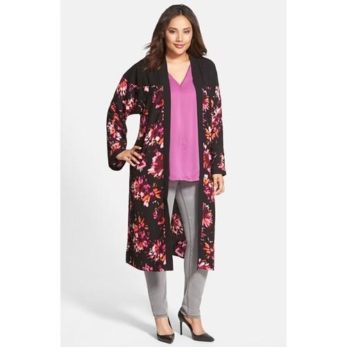 Floral Kimono Duster (Plus Size)