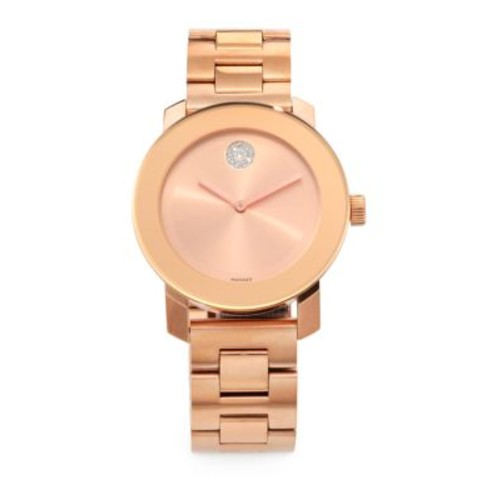 Bold Rose Goldtone IP Stainless Steel Bracelet Watch