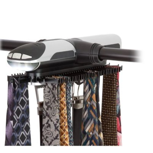 Honey Can Do Illuminated Electronic Tie Rack , black and silver ( HNG-03222 )