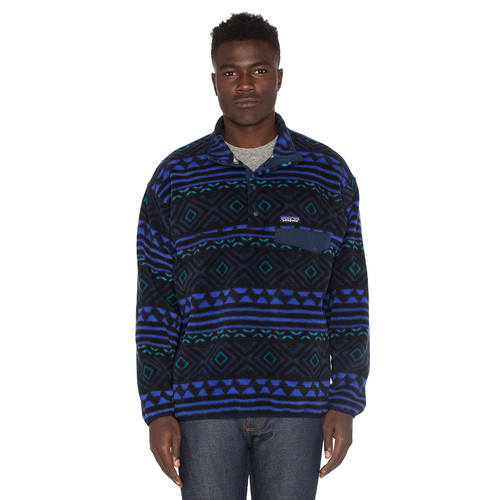 Patagonia Synchilla Snap-T Pullover in Saltillo & Navy Blue