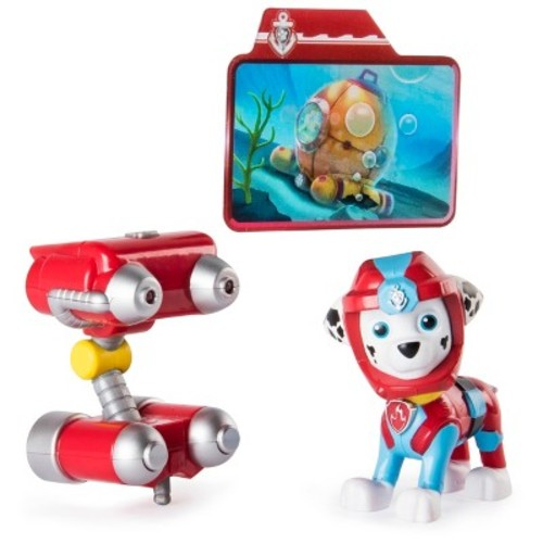 Paw Patrol Sea Patrol - Light Up Marshall with Pup Pack and Mission Card