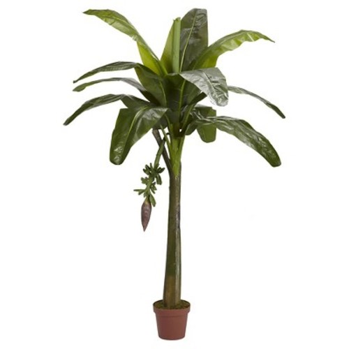 Nearly Natural Banana Silk Tree Green (Real Touch) (6\