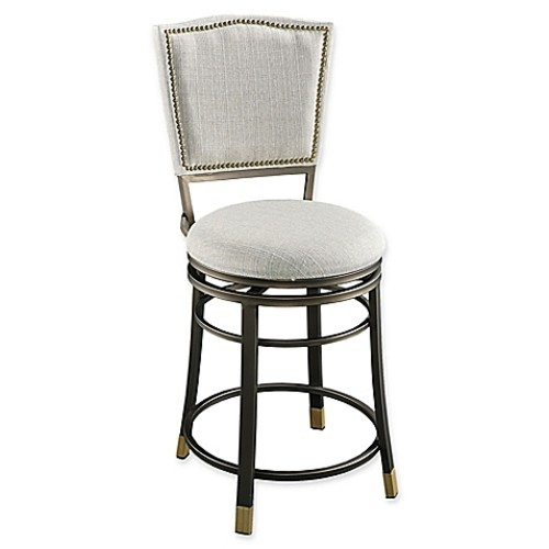 Linon Home Mariana Counter Stool with Beige/Champagne Finish
