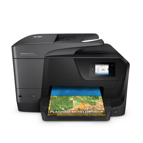 HP - OfficeJet Pro 8710 Wireless All-In-One Instant Ink Ready Printer - Black