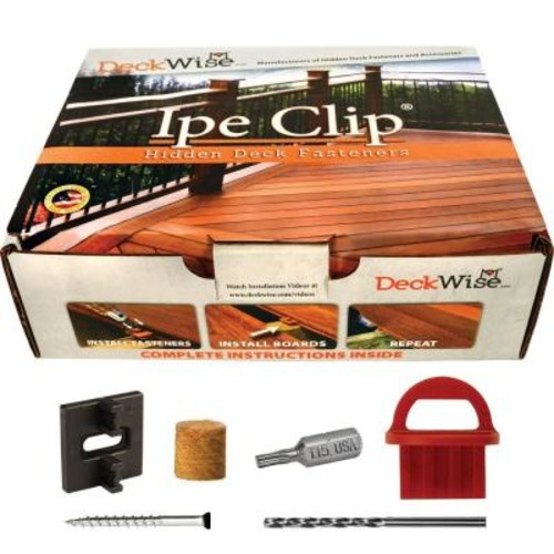 DeckWise Extreme4 Ipe Clip Black Biscuit Style Hidden Deck Fastener Kit for Hardwoods (175-Pack)
