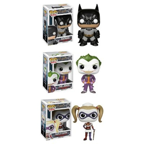 Funko Arkham Asylum POP! Heroes Vinyl Collectors Set: Batman, Joker, Nurse Harley Quinn