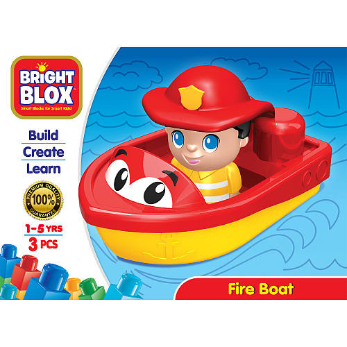Cra-Z-Art Bright Blox Figure and Vehicle Building Set 4 Pieces (Colors/Styles Vary)