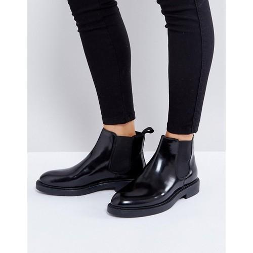 Vagabond Alex Black Polished Leather Chelsea Boots