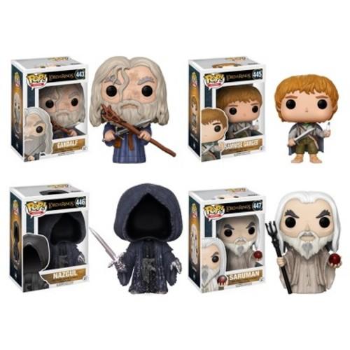 Funko POP! Movies Lord of the Rings Hobbit Collectors Set: Gandalf, Samwise Gamgee, Nazgul, Saruman