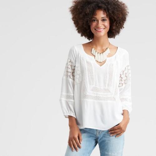 Ivory Crochet Rhoda Top