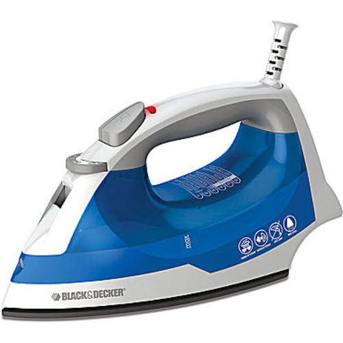 BLACK+DECKER IR03V Easy Steam Compact Iron, Blue [Anti-Drip with SmartSteam]