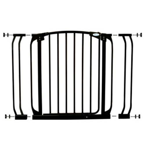 Dreambaby Chelsea 29.5 in. H Standard Height Auto-Close Security Gate in Black with Extensions