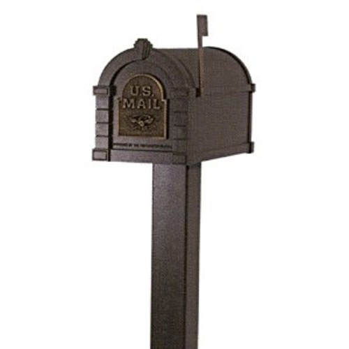 Keystone Aluminum Standard Mailbox Post in Bronze