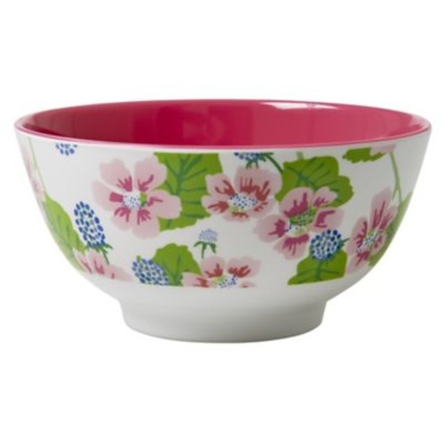 Rice Two Tone Melamine Blossom and Berries Bowl