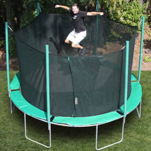 Magic Circle Round Trampoline with Safety Cage