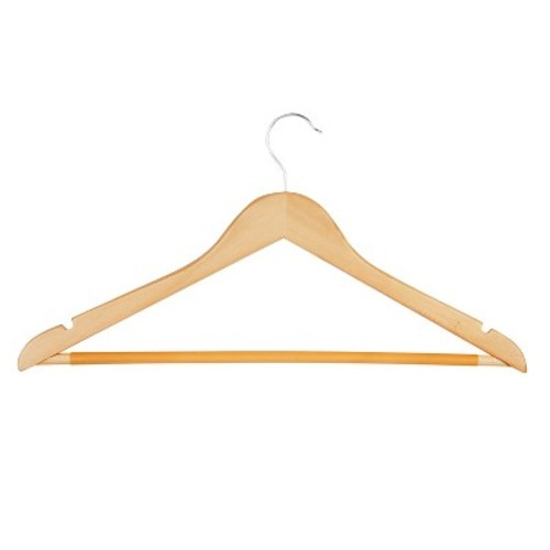 Honey-Can-Do 24-Pack Wood Hangers - Assorted Colors