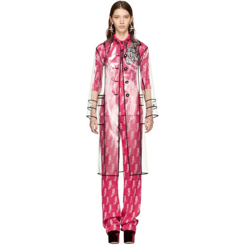MIU MIU Transparent Vinyl Coat