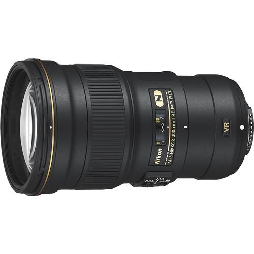 Nikon - AF-S NIKKOR 300mm f/4E PF ED VR Telephoto Lens - Black