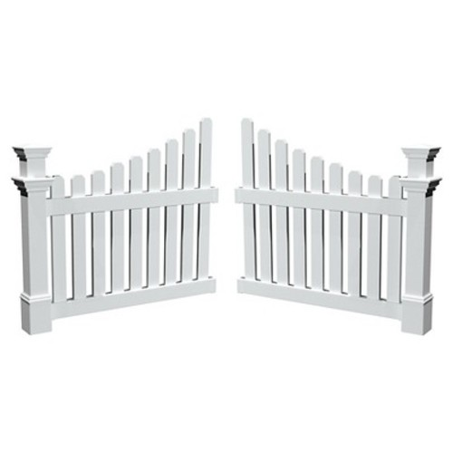 England Arbors Cottage Picket Wings : Fence Cape Cod Garden : Garden & Outdoor [White/Off-White]