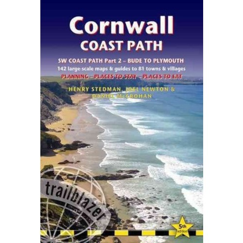 Cornwall Coast Path: South-West Coast Path Part 2 includes 142 Large-Scale Walking Maps & Guides to 81 Towns and ... (Paperback)