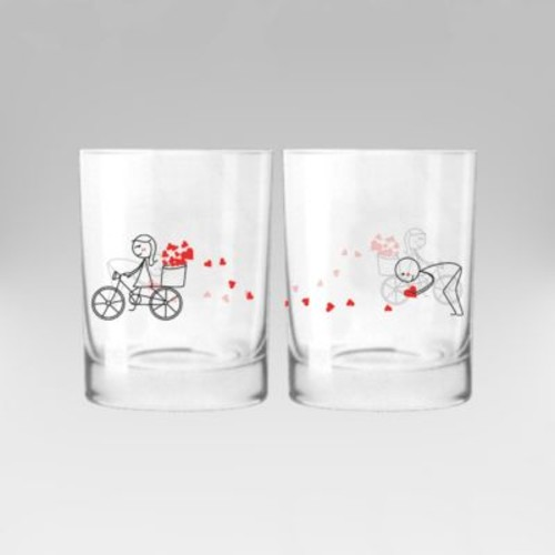 BoldLoft All My Love for You Couple 12 oz. Drinking Glass (Set of 2)