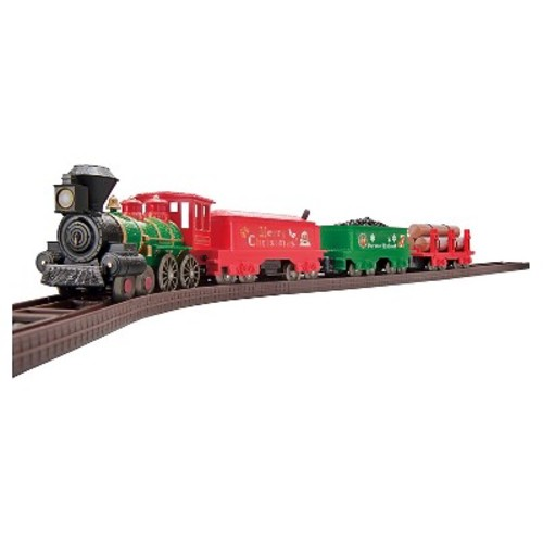 LEC USA Norman Rockwell Christmas Steam Locomotive American 4-4-0 Battery Operated Train Set