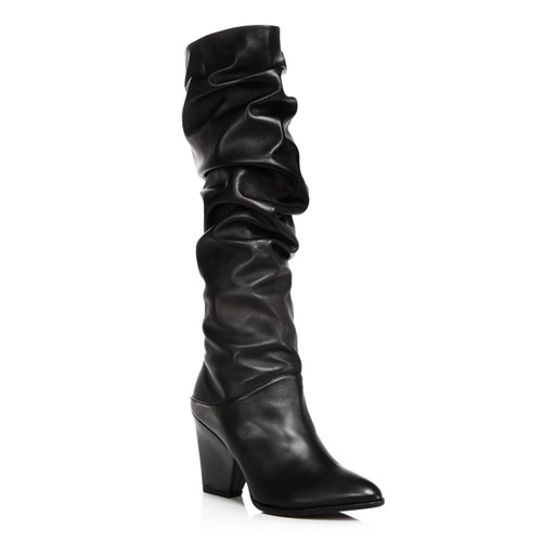 Women's Smashing Leather Scrunched Leather Tall Boots