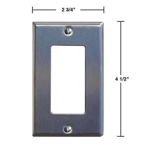 Switchplate Brushed Stainless Steel Single GFI