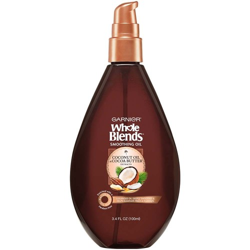 Garnier Whole Blends Coconut Oil & Cocoa Butter Extracts Smoothing Oil, 3.4 fl oz, 1 Count