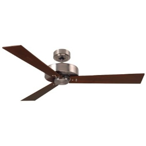 Keane Ceiling Fan [Fan Body and Blade Finish : Brushed Steel with Natural Cherry/Walnut blades]