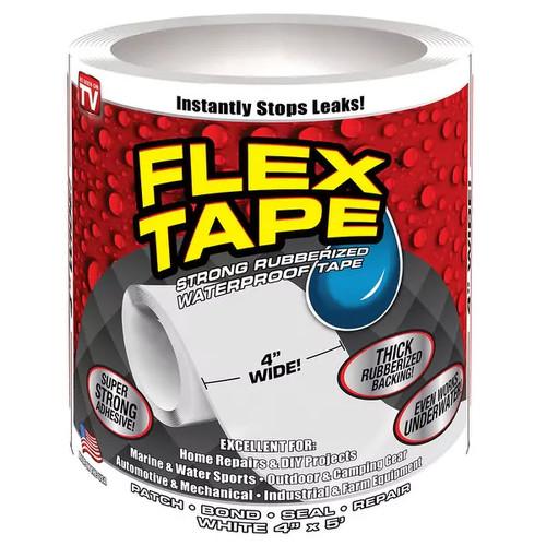 Flex Seal TFSWHTR0405 Waterproof Repair Tape, White, 4