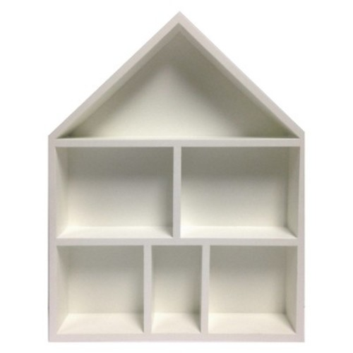 House Cubby Wall Shelf, White - Pillowfort