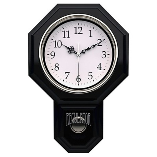 Essex Pendulum Wall Clock Black - TimeKeeper