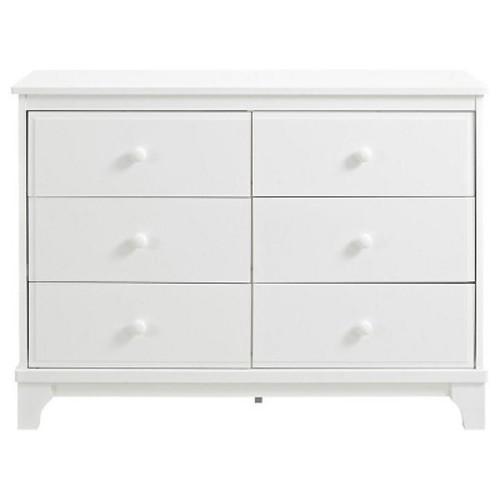 Baby Relax Luna 6 Drawer Dresser - White