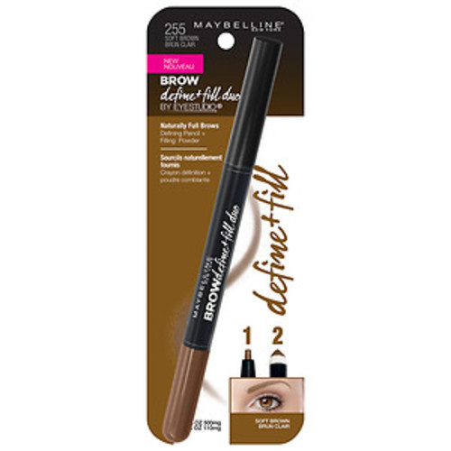 Maybelline Eye Studio Brow Define + Fill Duo, Soft Brown
