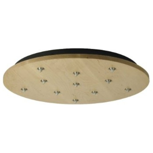 Round Wood Multi-Light Canopy [Light Option : Halogen and Xenon; Finish : Bronze]