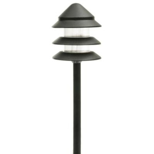 Hampton Bay Low Voltage Black Halogen 3-Tier Path Light