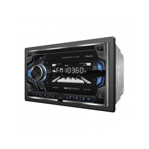 Soundstream Double DIN CD/MP3, AM/FM Receiver with 32GB USB Playback & Bluetooth