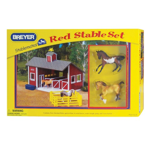 Breyer Stablemates Red Stable and Horse Set [Red Stable Set]