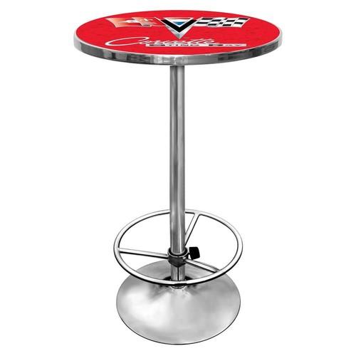 Trademark Corvette C2 Chrome Pub Table (Black)