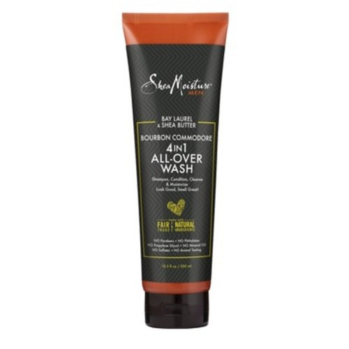 SheaMoisture Men's Bourbon Commodore 4-in-1 All-Over Wash - 10.3oz