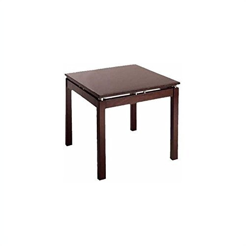 Wood End Table in Espresso