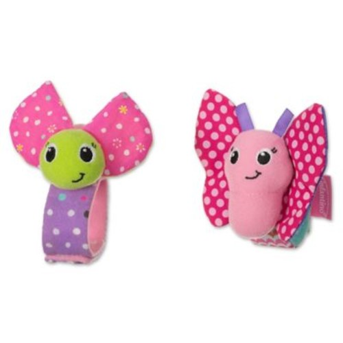 infantino Butterfly and Ladybug Wrist Rattles (Set of 2)