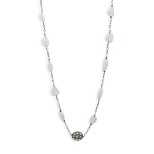 Bavna - Sterling Silver Single Strand Necklace