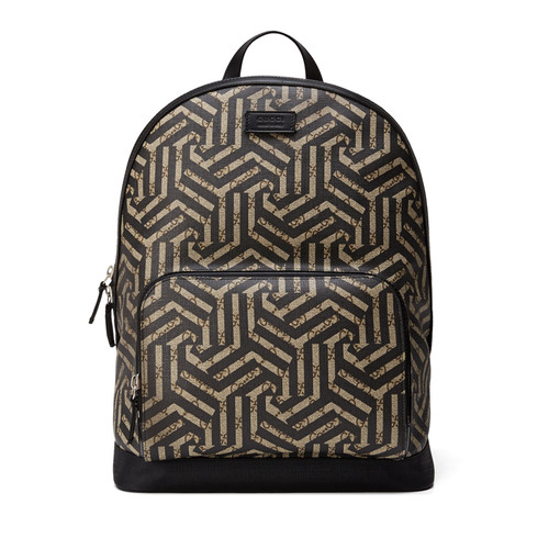 GUCCI Gg Caleido Canvas Backpack, Black/Brown