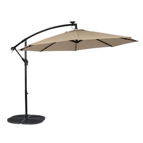 Living Accents Offset 10 ft. Dia. Patio Umbrella Tan (UMSCS10E04OBD)