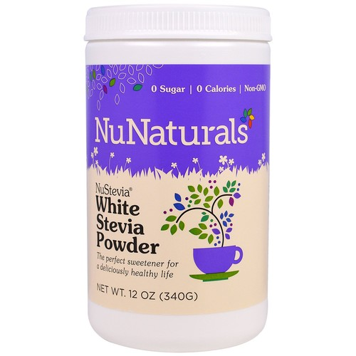 NuNaturals, NuStevia White Stevia Powder, 12 oz (340 g)