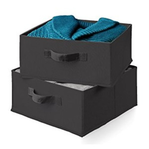 Honey-Can-Do SFT-01248 Drawers For Hanging Organizer, 2-Pack, Black [Black, Black]