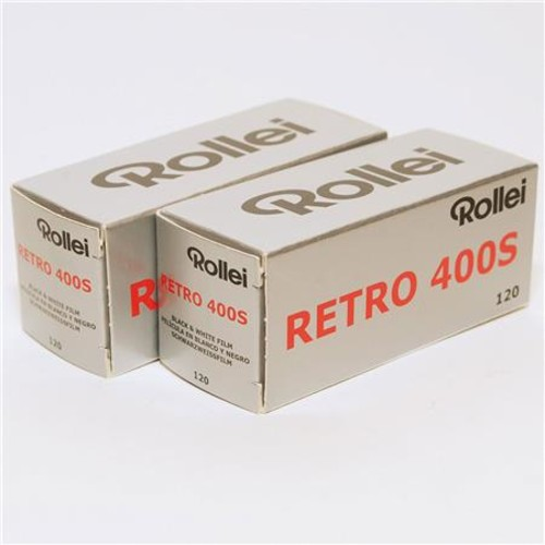 Rollei Retro 400S Black and White Negative Film (120 Roll Film)