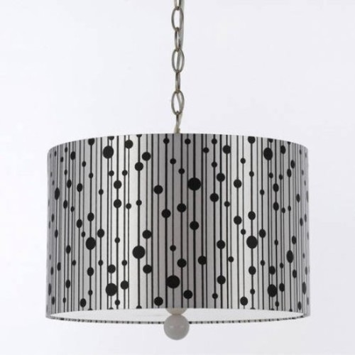 AF Lighting Drizzle Pendant with Silver Shade/White Finial